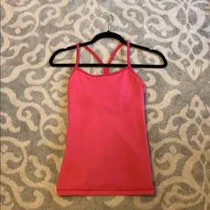 Lululemon Coral Power Y Tank Size 2